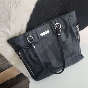Coach Gallery Black Leather Tote Bag